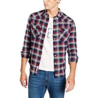 LeeWESTERN SHIRT, Camisa Hombre, Azul (BRIGHT NAVY), Tamaño del Cuello: 37 cm (Talla del fabricante: 37)