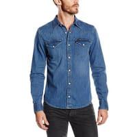 LeeLEE WESTERN SHIRT - Camisa de manga larga para hombre, color blue stance
