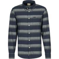 LeeButton Down Camisa de manga larga azul a rayas