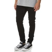 LeeZ-One Black Denim Cotton Low Rise Length Mens Skinny Jeans