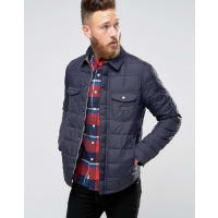 LeeQuilted Shirt Jacket Navy Darkness - Navy