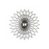 VitraSunflower Clock - Frassino Nero/Ottone
