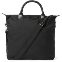 Want Les EssentielsOhare Leather-trimmed Organic Cotton-canvas Tote Bag - Black