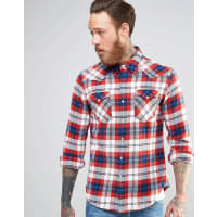 Levi'sBarstow Flannel Check Shirt Red Western