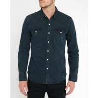 Levi'sBlue Black Western Denim Shirt