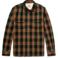 Levi'sDeluxe Checked Wool-blend Overshirt - orange