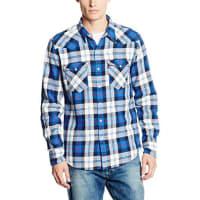 Levi'sBARSTOW WESTERN, Camisa Hombre, Multicolor (C32387 DORRIGO CODE BLUE PLAID MT_PD162217), Large
