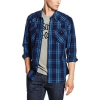 Levi'sBARSTOW WESTERN, Camisa Hombre, Multicolor (C32391 GALINGALE INDIGO PLAID MT_PD162219), Large
