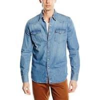 Levi'sL/S Barstow Western Shirt - Camisa casual de manga larga para hombre, color azul (red cast stone)