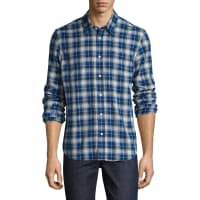 Levi'sCotton Plaid Print Sportshirt