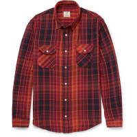 Levi'sShorthorn Checked Cotton-flannel Shirt - Burgundy