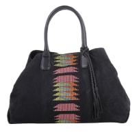 LiebeskindTassen met handvat - Chelsea Tote Embroidery/Suede Leather Black in zwart voor dames