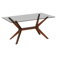 Life InteriorsKobe Rectangle Dining Table, Walnut