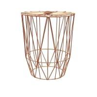Life InteriorsStudio Wire Side Table, Copper