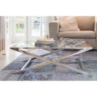 Light & LivingLivlight salontafel / tafel- zilver glas nikkel - Cross