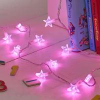 Lights4funPink Star Fairy Lights