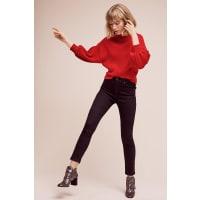 Line & DotBalloon-Sleeve Pullover
