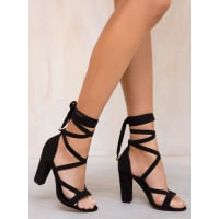 Lipstik ShoesWomens Lipstik Black Gidge Heels Black 7.5