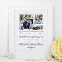 Lisa Marie DesignsWedding Vows Photo Print