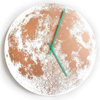 Little LarkCopper Moon ClockWhite / Patina Green
