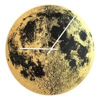 Little LarkGold Moon ClockWhite