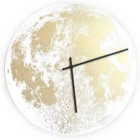Little LarkGold Moon ClockWhite / Black