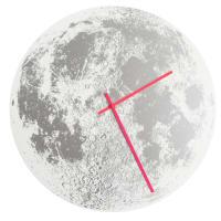 Little LarkSilver Moon ClockWhite / Neon Pink