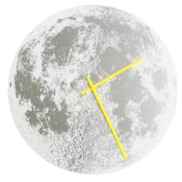 Little LarkSilver Moon ClockWhite / Neon Yellow