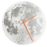Little LarkSilver Moon ClockWhite / Neon Orange