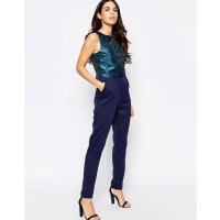 Little MistressJumpsuit with Printed Top - Blue