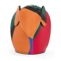 LoeweColorblock Leather Elephant Coin Purse