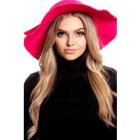 LolliCouturefuchsia wool ribbon accent hat