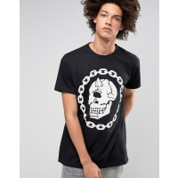 Long ClothingLong X Mishka Chain T-Shirt in Oversized Fit - Black
