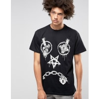 Long ClothingLong X Mishka Vex T-Shirt in Oversized Fit - Black