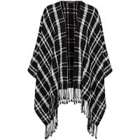 LooxentPoncho i 100% ny ull från Looxent svart