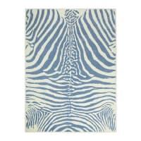 Lorena Canalsalfombra Zebra azul