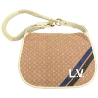 Louis VuittonInitiales Amman Camel Brown Mini Lin Monogram Canvas Bag