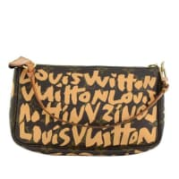 Louis VuittonPochette Accessories Beige Graffiti Monogram Canvas Bag
