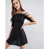 LoveCage Sleeve Dress - Black