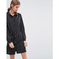 Love & LiesMay Printed Shirt Dress - Black