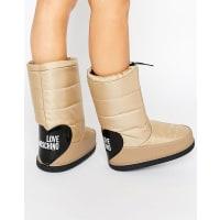 Love MoschinoBeige Snow Boots