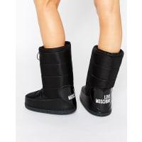 Love MoschinoBlack Snow Boots