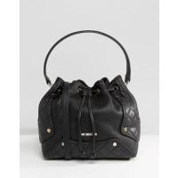 Love MoschinoGrain Pebble Shoulder Bag - Black
