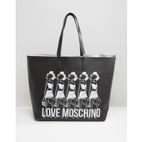 Love MoschinoShopper-Tasche mit Logo - Schwarz