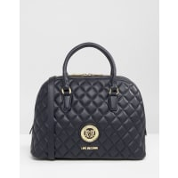Love MoschinoQuilted Handheld Bag - Navy