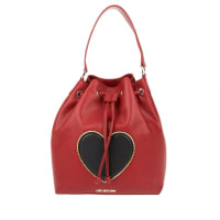 Love MoschinoShoulder Bag - New Lamb PU Bucket Bag Rosso Scuro - in red - Shoulder Bag for ladies