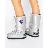 Love MoschinoSilver Snow Boots - Silver 90a