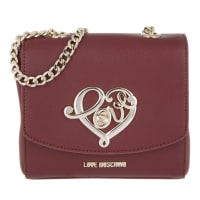 Love MoschinoShoulder Bag - Grain Pu Shoulder Bag Bordeaux - in red - Shoulder Bag for ladies