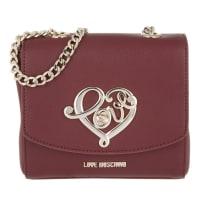 Love MoschinoShoulder Bag - Grain Pu Shoulder Bag Bordeaux - in red - Shoulder Bag for ladies