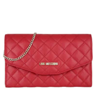 Love MoschinoEvening Bag - Quilted Clutch Red - in red, gold - Evening Bag for ladies